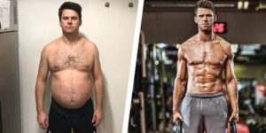 body transformation from fat to fit